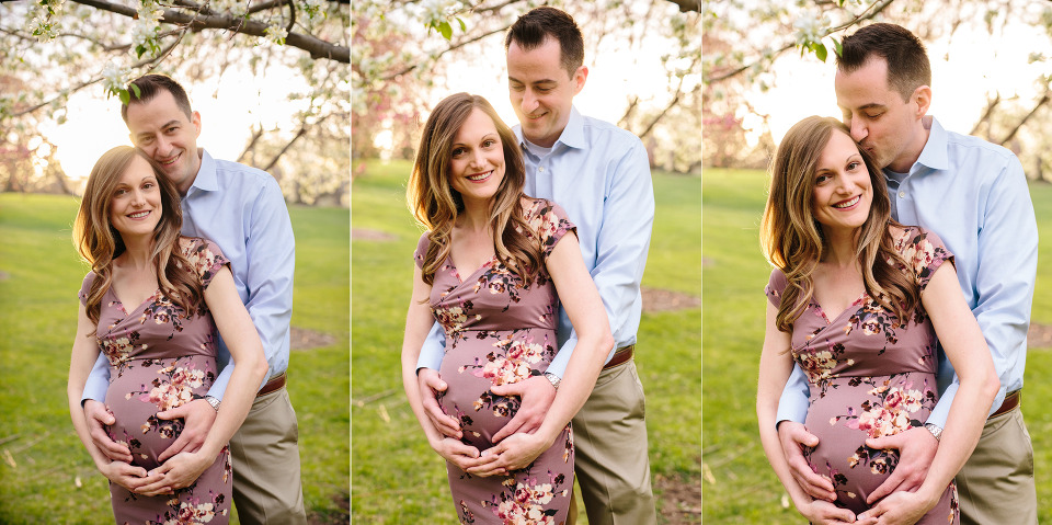 Spring maternity photos, Denver maternity photographer, spring flowers maternity photos, cherry blossoms, spring blossoms