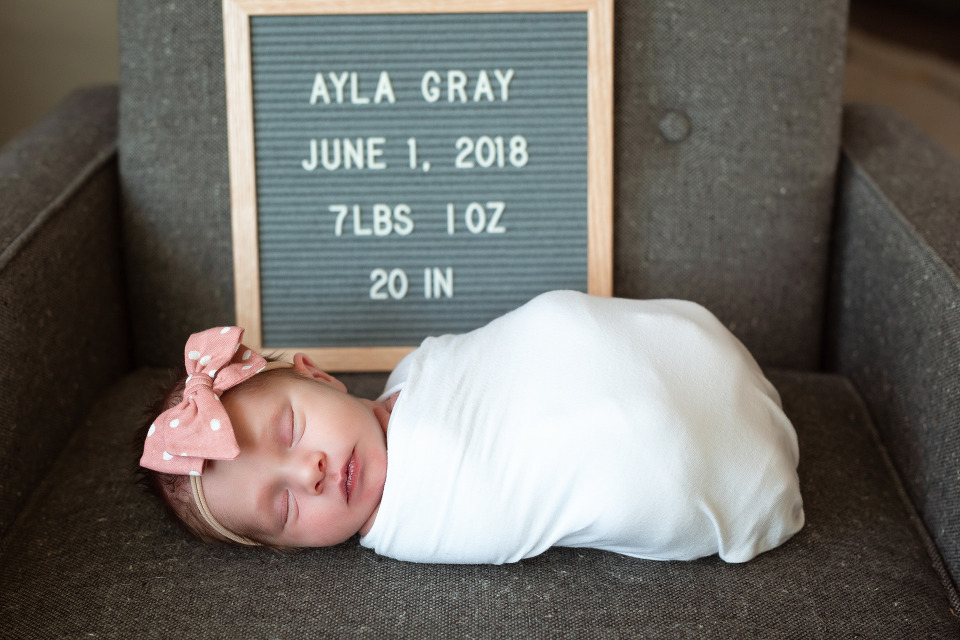 Birth announcement photo