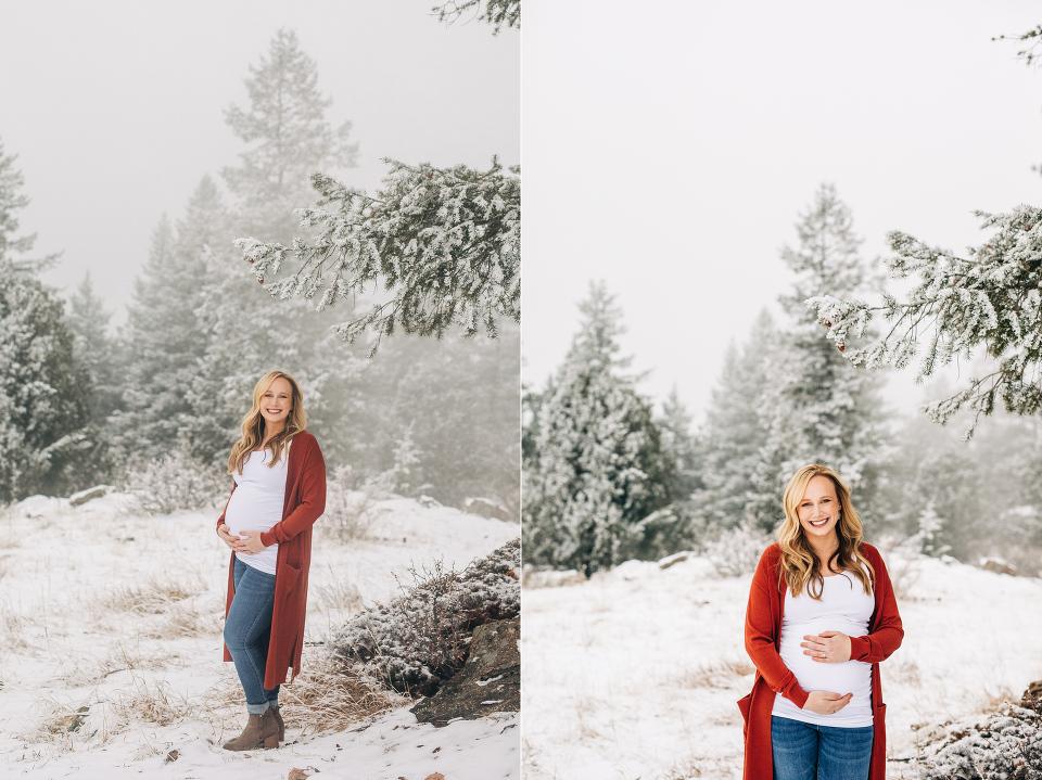 Denver winter maternity photographer